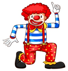 A playful clown vector image