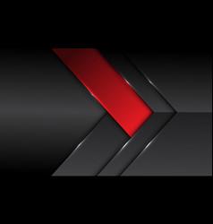 abstract dark grey metallic red banner arrow vector image