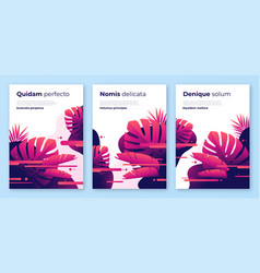 Abstract tropical backgrounds brochure vector