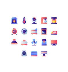 appliances icon set vector image