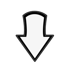 arrow down symbol vector image