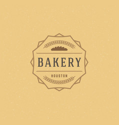 bakery badge or label retro vector image