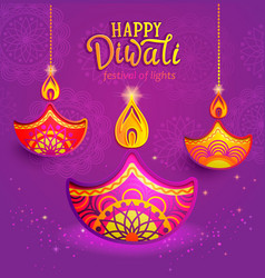 banner for happy diwali vector image