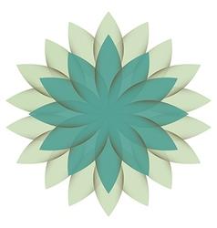 Beautiful lotus flower color wheel mandala vector