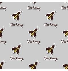 Big Bees Seamless Pattern vector