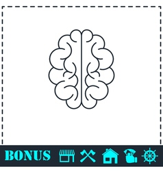 Brain icon flat vector