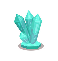 bright turquoise crystals tool for divination vector image