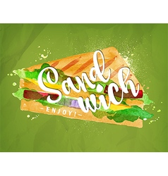 Burger sandwich green vector