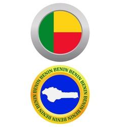 button as a symbol BENIN vector image