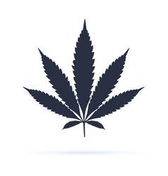 Cannabis sign icon icon dope ganja symbol vector