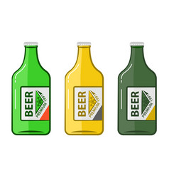 cartoon bottle beers vector image