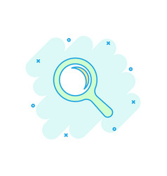 cartoon magnifying glass icon in comic style vector image