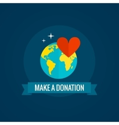 Charity and donations icon vector