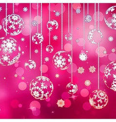 Christmas background with baubles EPS 10 vector image