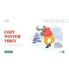 christmas holidays activity website landing page vector image