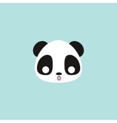 Cute panda face vector image vector image