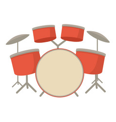 drum set icon cartoon style vector image