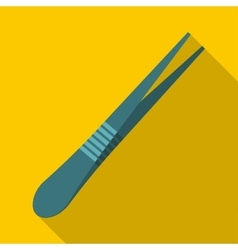 Eyebrow tweezers icon flat style vector