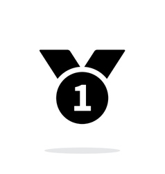 First place medal simple icon on white background vector
