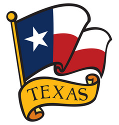 Flag texas vector