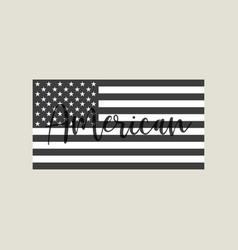 flag usa with text american american isolated vector image