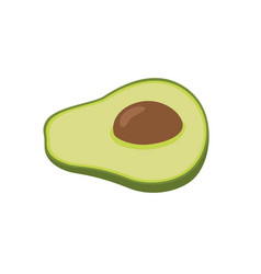 flat icon fruit avocado vector image