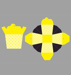Food Paper Cup with Top Cover vector