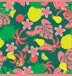 fruit pineapple pattern vector image