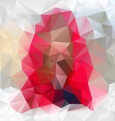 Gemstone pink polygonal triangular pattern vector