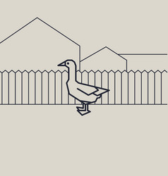 geometric of a duck vector image