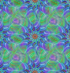 Green blue colorful seamless fractal pattern vector image