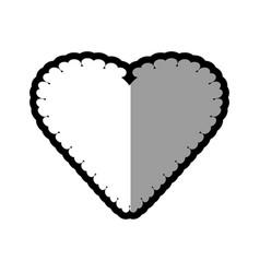 heart romantic label decoration vector image