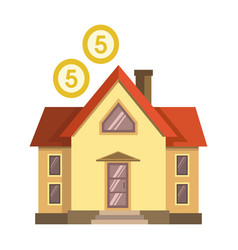 House with money over it vector