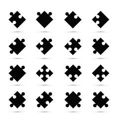 individual jigsaw pieces vector image