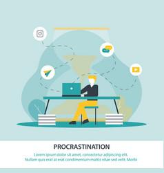 Inscription procrastination vector