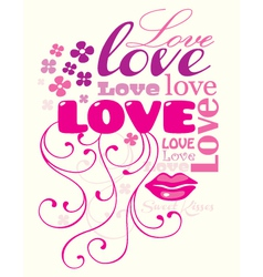 love composition vector image