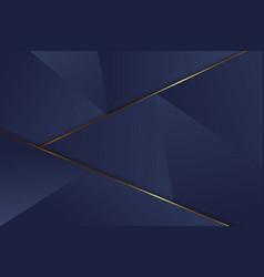 luxury triangle background vector image