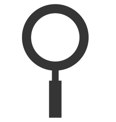 Magnifying glass icon over white background vector