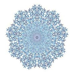 Mandala pattern blue background vector