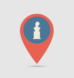 map pin monuments vector image