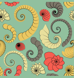 Marine themes seamless pattern from rough vector