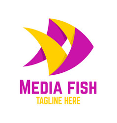 Media fish logo vector