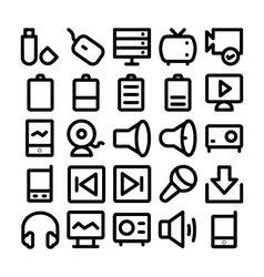 Multimedia Icon 7 vector image
