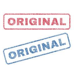 Original textile stamps vector