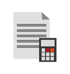 Paper document and calculator icon vector