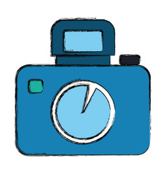 Professional photographic camera vector