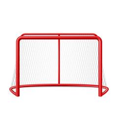 Realistic ice hockey goal with net vector