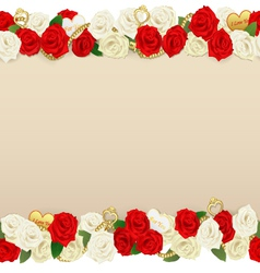 Romantic Flower Frame vector image
