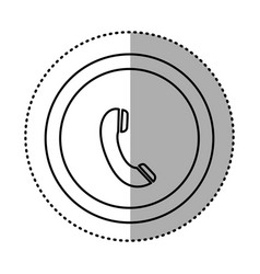 Round symbol communication phone talk icon vector