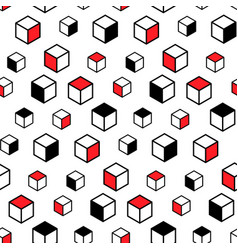 seamless pattern with geometric elements modern vector image